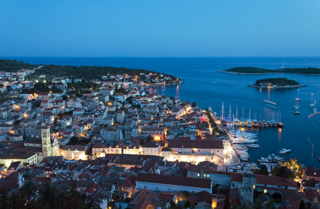 'Mediterranean town Hvar at night' - Hvar